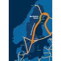 Karta över Norrbotniabanans sträckning