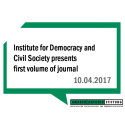 Institute for Democracy and Civil Society presents first volume of journal