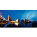 Forkæl dig selv med gourmetaftener med udsigt over Singapores smukke, futuristiske skyline.