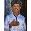 Uzbek gentleman wearing an Astrakhan hat (photo by schan)
