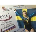 Lina Sjöberg tog Sveriges första EM-guld i DMT för damer