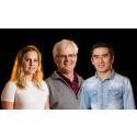 Kirsten Waaler, Robert Waaler och Najib Sahel vinnare av priset barn och ungdom Huddinge glöder 2016