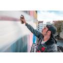 """""""THE HAUS""""-Künstler Mario Mankey gestaltet Brandwand in der Schulzendorfer Straße"""