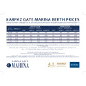 Karpaz Gate Marina Price List 2017
