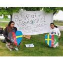 Tyst demonstration vid förvaret i Åstorp