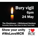 Tonight's vigil at Whitehead Gardens, Bury