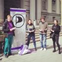 EU-parlamentariker Amelia Andersdotter besöker Härnösand