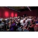 Hörsalen på m/s Sigyn var fullsatt under Nätverket mot cancers seminarium om riktad cancevård den 3 juli