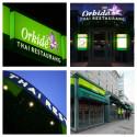 Clarex producerar nya skyltar till restaurang Orkidé