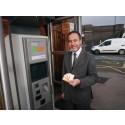 New ticket machine for Shenstone station