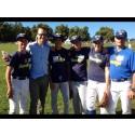 Prins Daniel testade baseboll i Hagaparken
