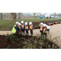 Local children help complete new St. Andrew's Park play area