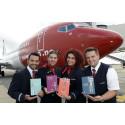 Norwegian crew with their favourite Roald Dahl books