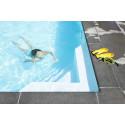 Simning i murad och putsad pool