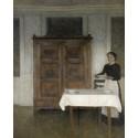 3165. Vilhelm Hammershöi, Pigen daekker bord