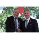 Norwegian CEO Bjørn Kjos receives U.S. Ambassador's Award for strengthening bilateral relations between Norway and the U.S.