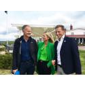 Carl Johan Ingeström, Charlotte Blum och Jonas Rosén (som tillträder som VD för Visit Dalarna den 1 november 2018).