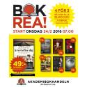 1,2 miljoner böcker på Akademibokhandelns stora bokrea