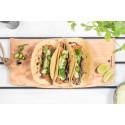 Recept: Kycklingtacos med avokado- & koriandercrème