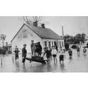 Översvämning i gamla Sofielund 1924. Foto: Okänd fotograf/Malmö Museer