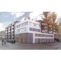 Bygglov för ny kyrka och bostäder i centrum