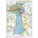 Map showing new school catchment zones in Elgin