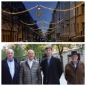 De lyckades återigen tända julbelysningen längs hela Nybrogatan!