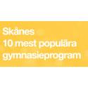 Populäraste gymnasieutbildningarna i Skåne under 2017