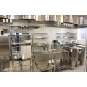 Del av nya köket vid Hackås skola
