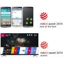 LG G3 OG LG WEBOS LOVPRISES I PRESTISJETUNGE RED DOT AWARDS 2014