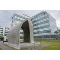3D-utskriven paviljong visas upp på Dassault Systèmes huvudkontor