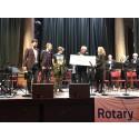 Alvik Basket får 60 000 från Rotaryklubb