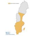 Områden med risk för låga grundvattennivåer sommaren 2017.
