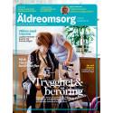 Omslag nummer 1, 2016 av tidningen Äldreomsorg. Utges av Gothia Fortbildning
