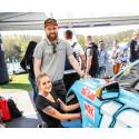 Robert och Alexandra redo för Bryntesson Motorsport och V8 Thunder Cars 2019