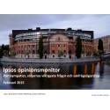 Ipsos opinionsmonitor februari 2015 - Partisympatier, väljarnas viktigaste frågor och sakfrågeägarskap