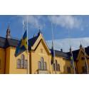 Bild: Linköping flaggar på halvstång
