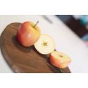 Saga – en svensk äppelsort som nu kan köpas i butik året runt.