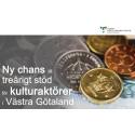 Ny chans till treårigt stöd för kulturaktörer i Västra Götaland