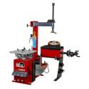 Kombinerad däckmaskin och balanserare för mobila och trångbodda garage