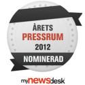Adulux nominerade till Årets Pressrum 2012