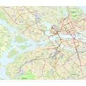 karta över inriktningsbeslut cykelplan