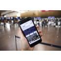 Swedavia lanserar ny tjänst för smidigare resande – håll koll på väntetiden i säkerhetskontrollen i mobilen och på webben