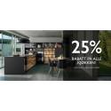 25% rabatt på alle kjøkken!