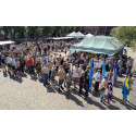 Veteranmarschen invigs i Halmstad den 16 juli