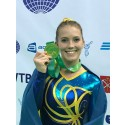 Lina Sjöberg tog VM-guld i DMT