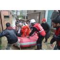 Röda Korset ger humanitärt stöd efter monsunregnen i Sydasien