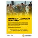 Inbjudan till invigning och information om Lean Factory