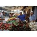 Kalabrien lokal marknad