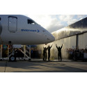Avinor and Widerøe write aviation history with world's first E190-E2 commercial flight